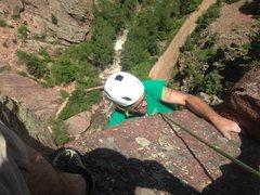 Rock Climbing Photo: Bastille Crack Pitch 3 5.8 Variation