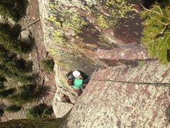 Rock Climbing Photo: Long Jon Hand Crack Psych!!!  AWESOME Climb!!!