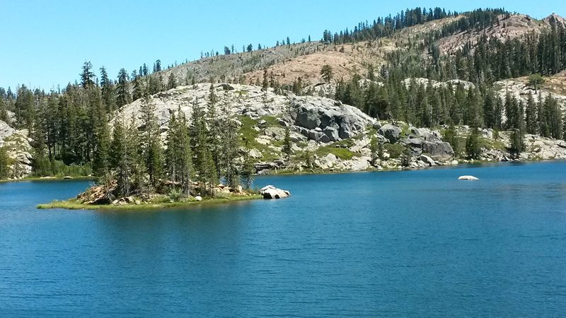 Island Lake. You can see the fire lookout on Grouse Ridge in the upper right hand corner of the pic.