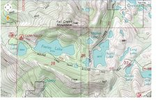 Rock Climbing Photo: Here is a small topographic map of the area with s...