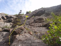 Rock Climbing Photo: Soft Rock is a fun, long route to the right of the...