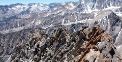 Rock Climbing Photo: On the final ridge. Sweet views of the Evolutions ...