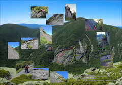 Rock Climbing Photo: Mosaic of first ascent of Ranger on the Rock on Se...