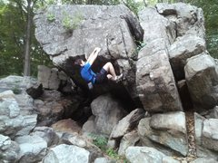Rock Climbing Photo: the overhang