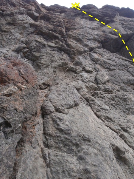 Rock Climbing Photo: The start of the route is just right of the pictur...