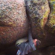 Rock Climbing Photo: Passing through the pod.