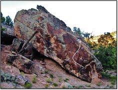 Rock Climbing Photo: Bloktrotter problem beta.