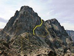 Rock Climbing Photo: The actual Barber Shop Traverse route.