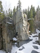 Rock Climbing Photo: Picture of crucifix in early Spring