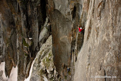 Rock Climbing Photo: On pitch 1 during an early attempt.