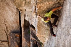 Rock Climbing Photo: Brad Wilson cops an unlikely rest on pitch 1 durin...
