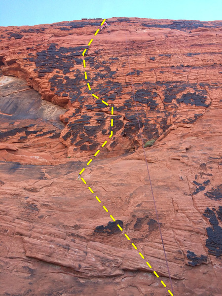Rock Climbing Photo: route line