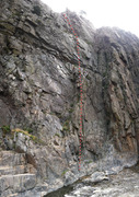 Rock Climbing Photo: The Ledges, P1 to tree.