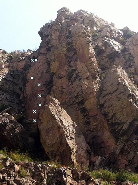 Rock Climbing Photo: Paradigm Shift from roadway.
