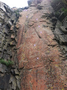 Rock Climbing Photo: Paradigm Shift (from base of route).