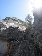 Rock Climbing Photo: Jack starting up P1 (5.6) 30 m