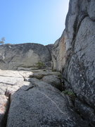 Rock Climbing Photo: the roof to pull on pitch 2.