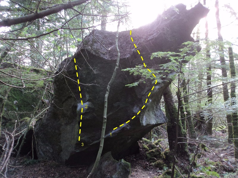Rock Climbing Photo: 1. Beast of Burden - Left Exit 2. Limax 3. Limax M...