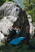Rock Climbing Photo: Hookin'