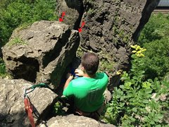 Rock Climbing Photo: TR Anchors setup for Nosey, Son of Godzilla, and P...