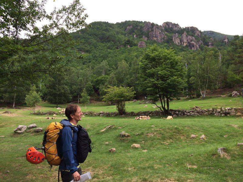 Return walk through the camping area.