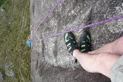 Rock Climbing Photo: The long way down.