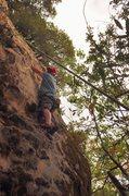 Rock Climbing Photo: Full Service 5.10c/d. Steep stuff near the bottom.