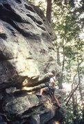 """Rock Climbing Photo: """"Pigs Feat"""" (5.10b) - if you move up the..."""