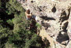 "Rock Climbing Photo: Dimitri Barton on the FA of ""California Five-..."
