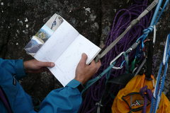 Rock Climbing Photo: Always bring the guide book even if it is written ...