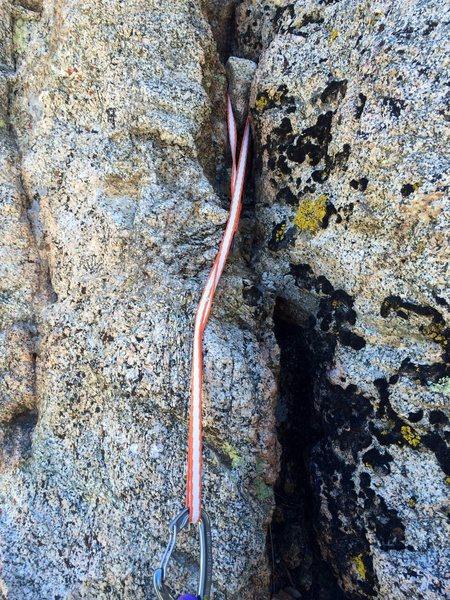 Rock Climbing Photo: Natural anchor.