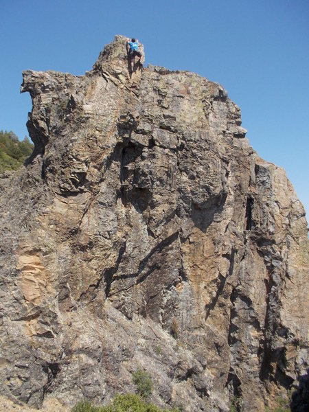 Rock Climbing Photo: Andrew Berge topping out, July 2014
