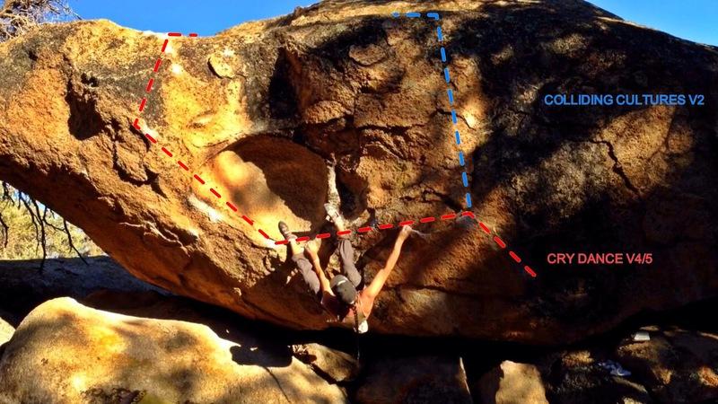 Boulder = The Ancestor<br> Featured problem = Cry Dance