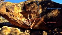 Rock Climbing Photo: Boulder = The Ancestor Featured problem = Cry Danc...