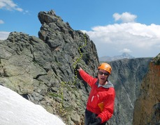 Rock Climbing Photo: Descent route on northwest side of Notchtop. Can b...