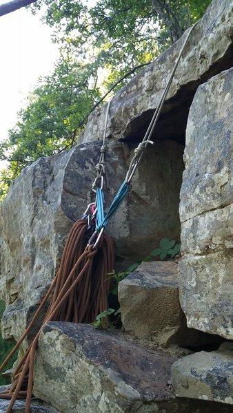 Rock Climbing Photo: anchor atop guzzler