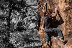Another Willow bouldering shot... Red Rocks, NV