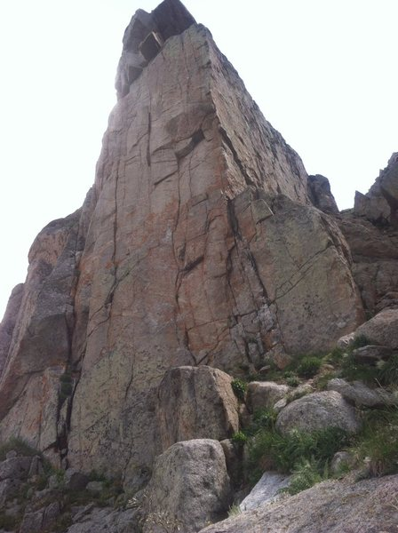 Rock Climbing Photo: Gettysburg Address is on the right. Start on the f...