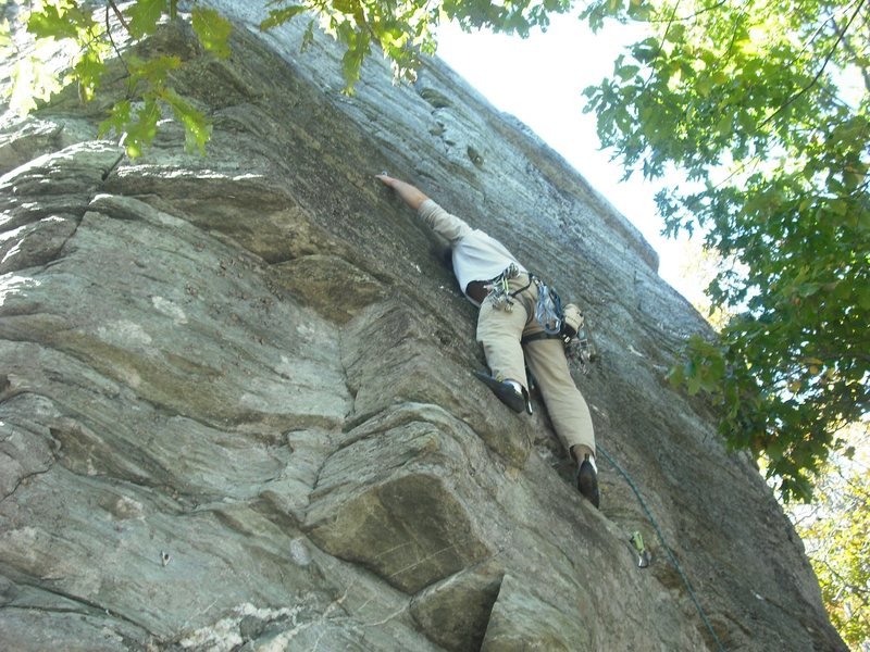 Rock Climbing Photo: Above the overhang, about the middle of the main w...