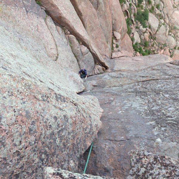 Fun Climb 101, pitch 2.
