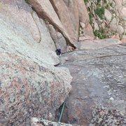 Rock Climbing Photo: Fun Climb 101, pitch 2.