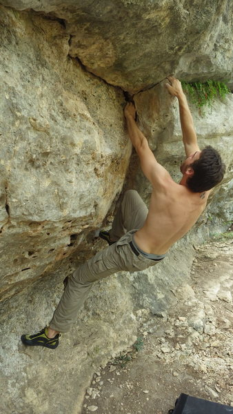 Rock Climbing Photo: first couple of moves on El Jardin