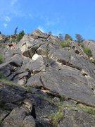 Rock Climbing Photo: Cracks at mid-crag