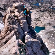 Rock Climbing Photo: From the NE Ridge, we headed straight up to the en...