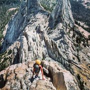 Rock Climbing Photo: Looking back from first little peak along the ridg...