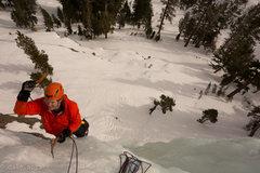 Rock Climbing Photo: Scotty finishing up Patience