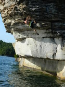 Rock Climbing Photo: DWS in Summersville lake, such a psychologically t...