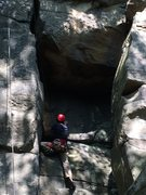 "Rock Climbing Photo: Having fun on ""The Contortionist"" 5.9, a..."