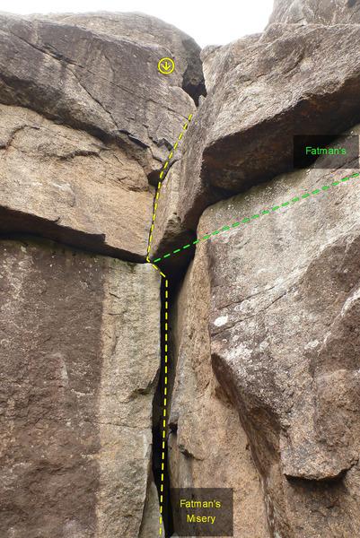 Rock Climbing Photo: Fat Man's Misery 670