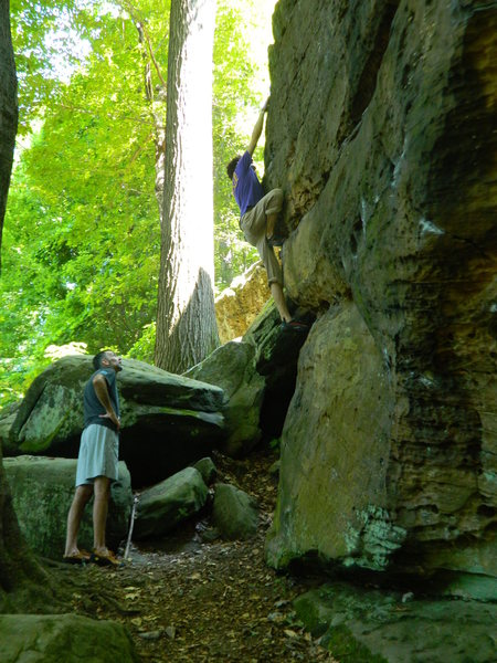 A V0 Arete climb, surprisingly fun for how easy it was.